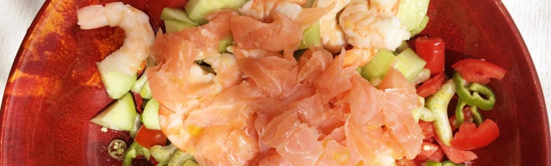 Prawn and Salmon salsa recipe