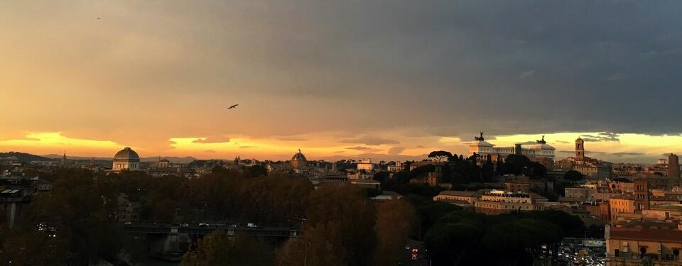 Sunset, Rome, Frantoi