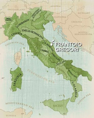 Frantoio Gregori location